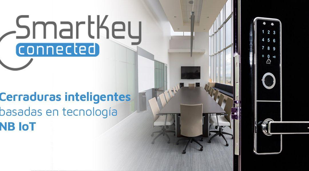 Smartkey, una cerradura inteligente basada en conectividad NB-IoT