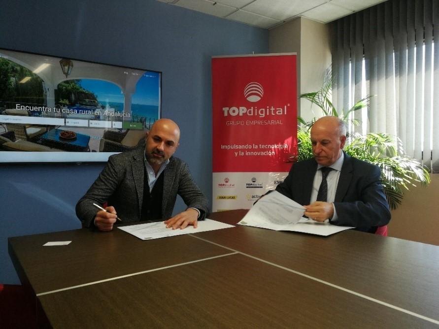Ruralidays y TOPdigital, firman un acuerdo de colaboración.